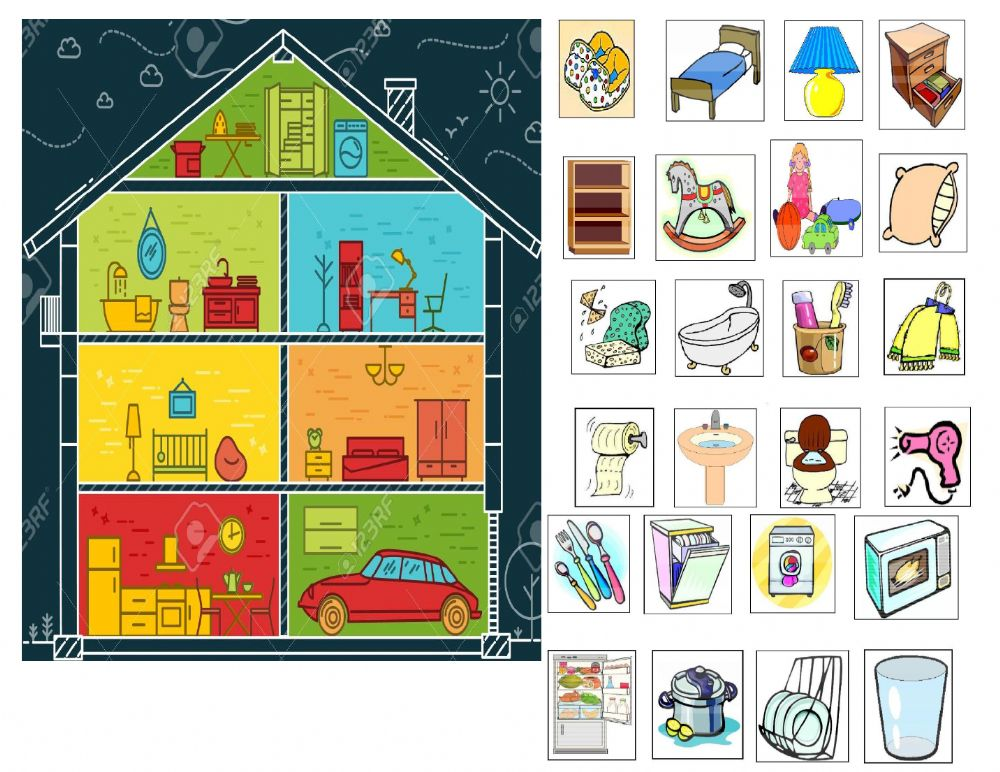 Parts Of A House Worksheet For PRESCHOOL