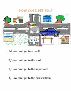 Interactive worksheet Level 4: Unit 5a: How can I get ....?