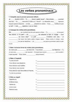 Interactive worksheet Verbes pronominaux