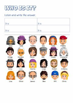 Interactive worksheet Who is it? - Game