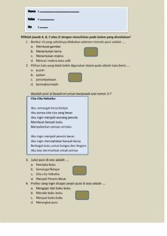 Interactive worksheet LK Puisi 2