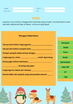 Interactive worksheet LK Puisi 3