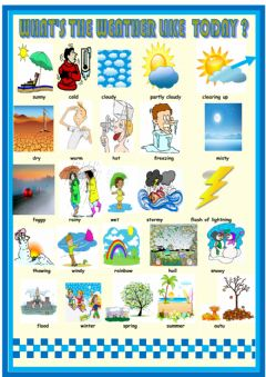 Interactive worksheet Weather and Seasons Picture Dictionary