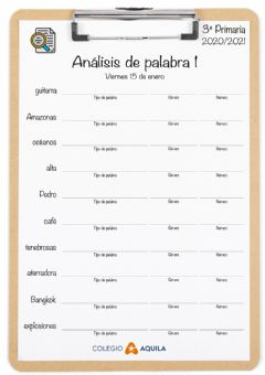 Interactive worksheet Analisis-palabras-T2-01