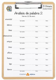 Interactive worksheet Analisis-palabras-T2-02