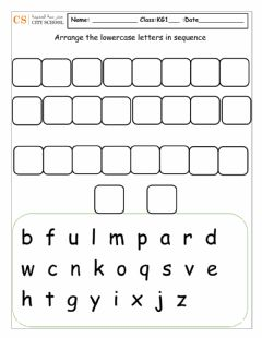 Ficha interactiva Lowercase sequence writing