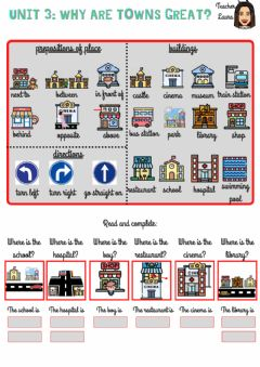 Ficha interactiva Unit 3:Why are towns great?