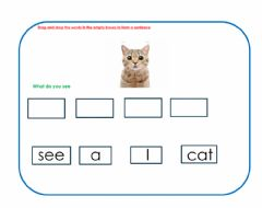 Interactive worksheet I see a cat