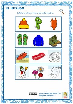 Interactive worksheet Invierno - intruso