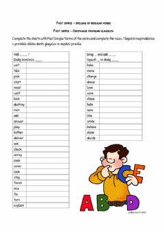 Interactive worksheet Spelling-Past simple regular verbs