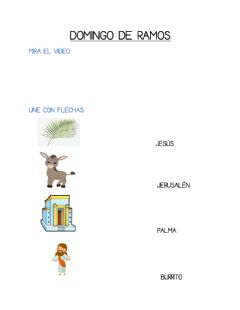 Interactive worksheet Domingo de ramos