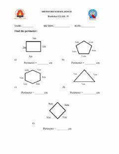 Interactive worksheet Perimeter