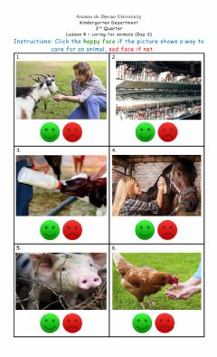 Ficha interactiva Lesson 4 Day 3: Caring for Animals