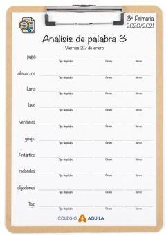 Interactive worksheet Analisis-palabras-T2-03