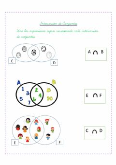 Interactive worksheet Interseccion de conjuntos
