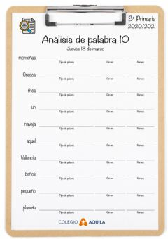 Interactive worksheet Analisis-palabras-T2-10