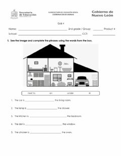 Interactive worksheet December Quiz - Places of the Community - 2nd Grade