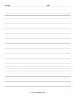 Interactive worksheet Blank Sheet With Lines