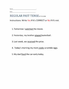 Ficha interactiva Regular Past Tense