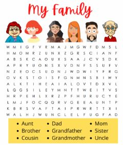 Interactive worksheet My Family Puzzle