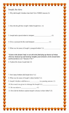Interactive worksheet Joseph the slave