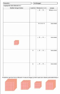 Interactive worksheet LKPD Volume Kubus Satuan