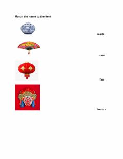 Interactive worksheet Chinese art and craft