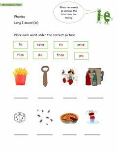 Interactive worksheet Long i Sound