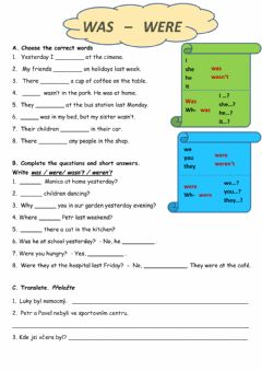 Interactive worksheet Past BE