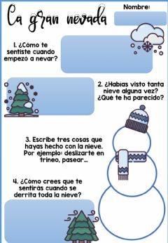Interactive worksheet La gran nevada