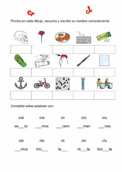 Interactive worksheet Activvidades cr-cl