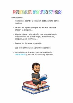 Interactive worksheet Fabrica de cuentos