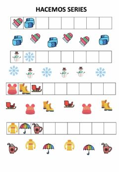 Interactive worksheet Series del invierno