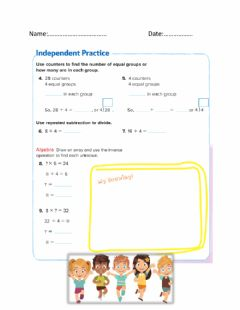 Ficha interactiva Divide by 4