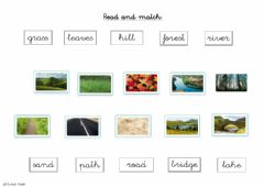 Interactive worksheet Vocabulary about nature