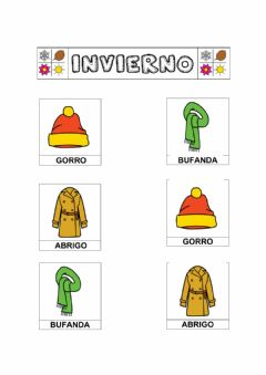 Interactive worksheet Unir invierno