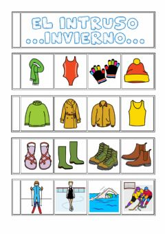 Interactive worksheet Intruso invierno