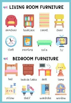 Interactive worksheet House furniture