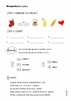 Interactive worksheet Ortografía c-z