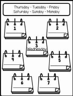 Interactive worksheet 4.5. My Day - Days Of The Week