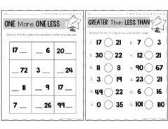 Interactive worksheet One more and One less
