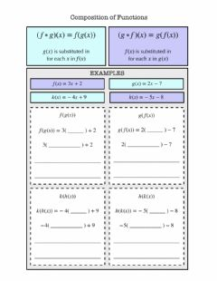 Interactive worksheet Composition of Functions Notes