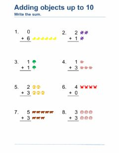 Interactive worksheet Adding with Pictures DJ