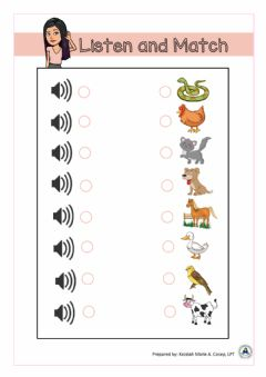 Interactive worksheet Animal Sounds