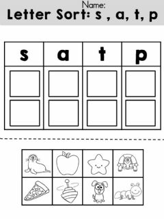 Interactive worksheet Phonemes: s, a, t, p