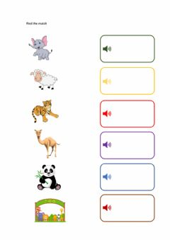 Interactive worksheet Animals 动物