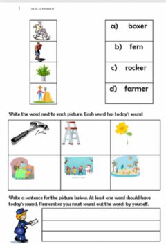 Interactive worksheet Er practise and apply