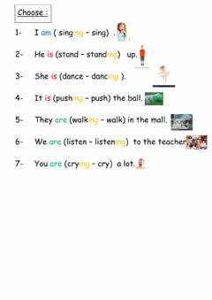 Interactive worksheet Present continuous 2