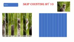 Ficha interactiva Skip counting by 10