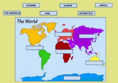 Interactive worksheet Continents